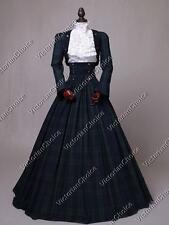 New listing Victorian Civil War Tartan Plaid Vintage Dress Gown Theater Clothing Wear 187 Xl