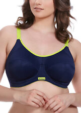 Elomi Energise Sports Bra Underwired Multiway Straps Maximum Support  8041 NAVY