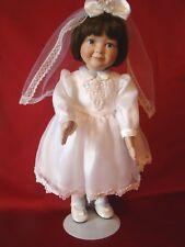 """""""First Communion"""" Porcelain Ashton Drake 14"""" Doll Brunette Hair #94513 COA 1996"""