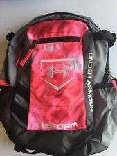 Under Armour Storm Pink Tie Dye Grey Black Small Backpack Bag EUC