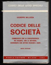 GIUSEPPE MILLOZZA CODICE DELLE SOCIETA' 6a ed.1982 pag. 995