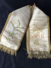 Lithurgique Tissu Voile Calice Ciboire Broderie Chapelle Eglise