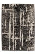 ANGEBOT trendiger Kurzflor Teppich DESIGNER Teppiche grau Elfenbein 160x230 Cm