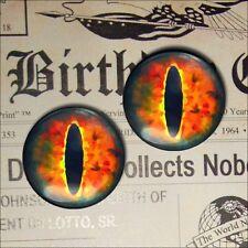 """1"""" Inch Red Dragon Eyeballs Glass Scifi Gothic Medieval Fantasy Taxidermy 25mm"""
