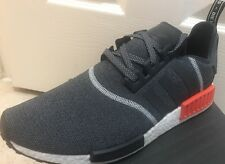 New Adidas NMD R1 Grey Red Wool 3M Reflective S31510 Men's Size 13 OG Infrared