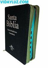 Biblia Compacta Reina Valera 1960 Con Promesas, Cierre Jean Verde e Indice