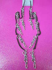 Elvrx133 Creations Skeleton Earrings 12 Inches Long Earrings