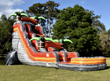 35x12x20 Commercial Inflatable Tropical Jungle Water Slide Bounce House Castle