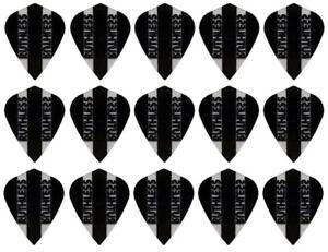 5 New Sets Ruthless Transparent Kite Dart Flights - Ships w/ Tracking - Black
