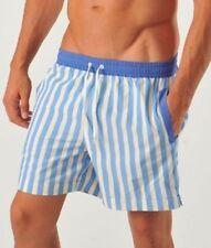 Abbigliamento blu a righe per il mare e la piscina da uomo