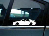 2X Lowered car silhouette stickers - for Alfa Romeo 159 sedan JTS | JTDm