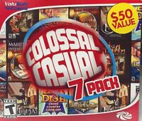 Colossal Casual 7 Pack PC Games Windows 10 8 7 XP Computer time management NEW