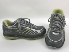 SKECHERS Shape-Ups Toners Silver Gray Lime Sneakers Womens Size 8.5 13000