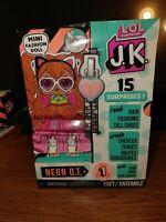 LOL Surprise JK NEON Q.T. Mini Fashion Doll 15 Surprises Series 1 Hair Shoes NEW
