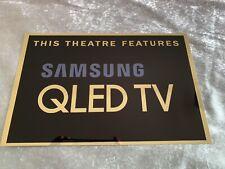 Samsung QLED TV Sign Home Cinema