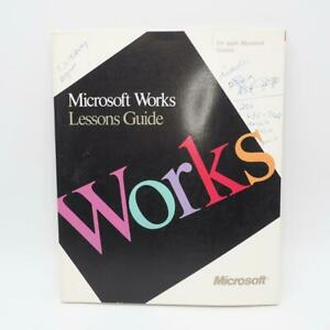 Vintage Microsoft Works Guide 1988 Manual Lessons Guide Apple Macintosh Systems