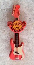 HARD ROCK CAFE PHILADELPHIA PINK SPRAYED METAL FENDER GUITAR SERIES PIN # 72636
