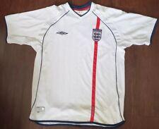Umbro ENGLAND 2002 World Cup White XL Soccer Jersey Football Shirt