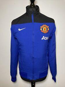 Nike Dri-Fit Manchester United MUFC AON 2013-2014 Blue Away Jacket Windbreaker S
