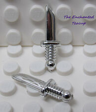 Lego Knife Dagger - Chrome Silver - Lot of 2 - Castle Knights - New