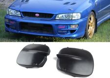 1997-2001 Subaru Impreza STI GC8 Fog Light Covers 2/5 Door Black + Hardware