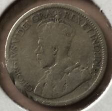 1915 ~ CANADA ~ 10 CENTS ~ GEORGE V ~ G6 Condition