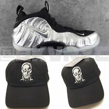 2eb3baf9276 Black Silver Surfer Dad Cap Hat For Nike Foamposite 2017
