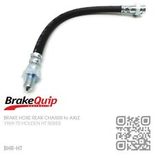 BRAKEQUIP BRAKE HOSE REAR CHASSIS to AXLE [HOLDEN HT SERIES & MONARO GTS]