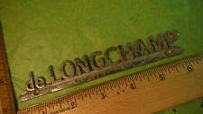 "de Longchamp Metal Vintage Car Dealership Emblem 6"" X 1"" MASS?"