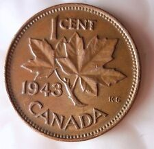 1943 CANADA CENT - Excellent Collectible Coin - FREE SHIPPING - Big Canada Bin