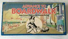 Advance to Boardwalk Parker Brothers 1985 Board Game 0014 Complete Vtg