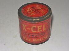 ANTIQUE J.L. PRESCOTT NY X-CEL STOVE POLISH POWDER TIN - FULL