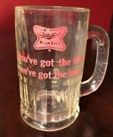 Old MILLER HIgh Life Beer Glass Mug Barware If You Got The Time We Got The Beer