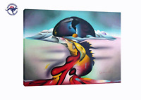 ABSTRACT AIRBRUSH PAINTING TECHNIQUE ON CANVAS MODERN DECOR WALL ART (NO FRAME)