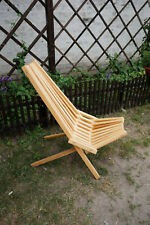 wooden fold chai, slatted chair lawn chair slatted seat handmade chair patio out