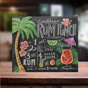 Rum Punch COCKTAIL RECIPE METAL SIGN Bar Cafe beer garden man cave home tiki
