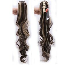 Long Claw On Ponytail Deluxe Clip In Hair Extensions As Human Hair Pony Tail AP2