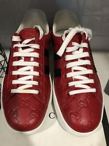 GUCCI Ace Red Classic Sneakers Shoes - US 6 w/ box -