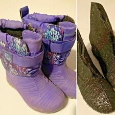 Merrell Toddler Snow Boots Size 10 Snow Quest Lite Select Grip Tread Purple Used