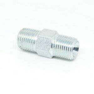Steel Hex Nipple 1/8 Npt Male Mip Mpt Pipe Fitting Fuel Oil Gas Liquid Air WOG