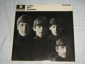 WITH THE BEATLES by THE BEATLES (1963) Yellow Parlophone LP Album PMC 1206  Mono