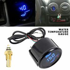 "2"" 52mm Blue Digital Led Fahrenheit Water Temp Temperature Gauge Black"