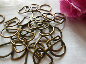 lot 12 anneaux demi lune métal mercerie couture creation 2,2 sur 2,7 T17