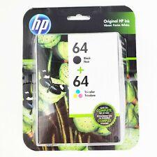HP 64 Black + 64 Tri-Color Ink Cartridge Combo Pack
