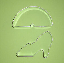 Wizard of OZ cookie cutter set of 2 Rainbow and Ruby Red slipper shoe