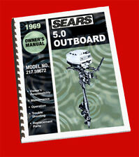Sears 5 HP Outboard Owners Manual and Parts Book (217.59672) 1969