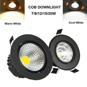 Recessed LED Ceiling Downlights COB Spot Light Lamp Indoor 7W9W12W 15W 110V 220V