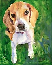 Beagle Gifts | Art Print from Painting | Home Decor Poster, Picture 11x14
