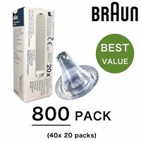 800 x Braun Replacement Lens Filter Probe Covers for ThermoScan Thermometer 6520