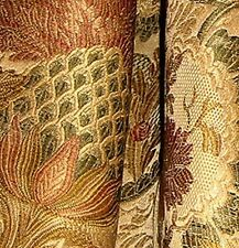 5 yards Beacon Hill Heavy Champagne Lampas Style Brocade Upholstery Fabric
